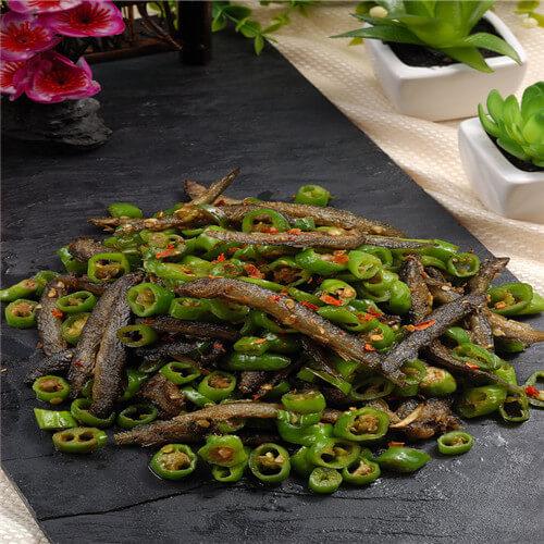 青椒炒泥鳅