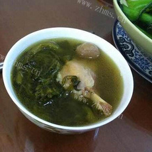西洋菜腊鸭头猪骨汤