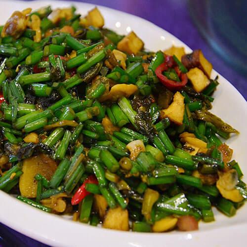 雪菜炒文蛤