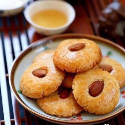 瓜子仁杏仁酥饼