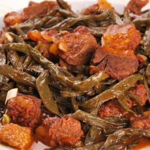 酱香排骨炒豇豆干
