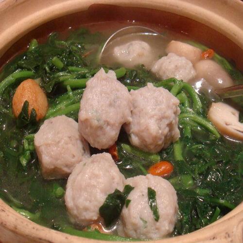 双丸西洋菜汤