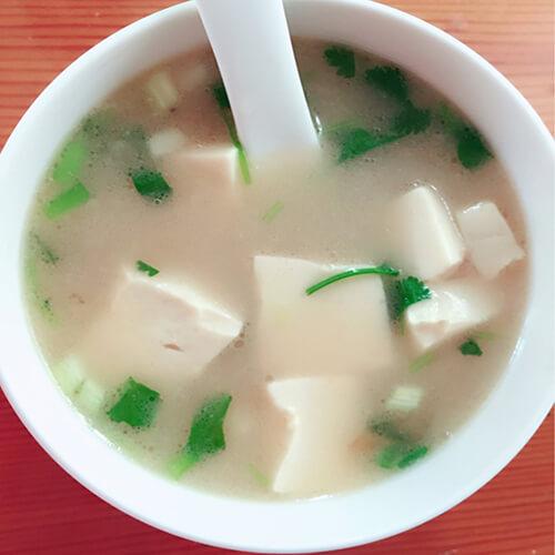 鸳鸯贝豆腐汤