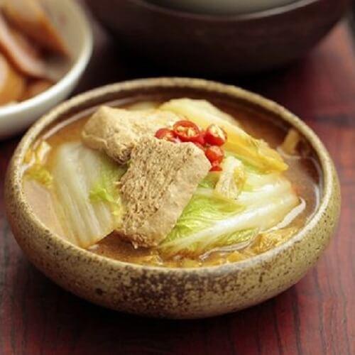 白菜顿冻豆腐