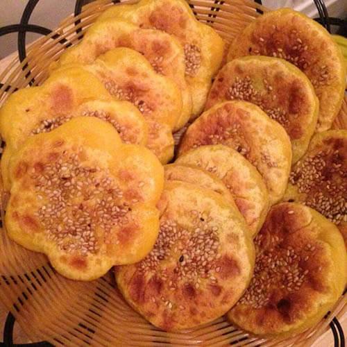 煎南瓜豆沙饼