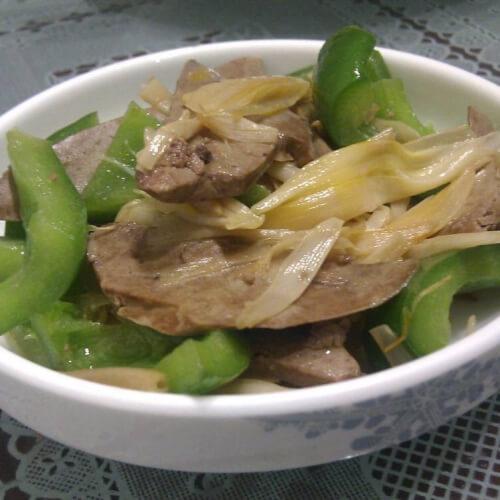 黄花菜炒鹅肝