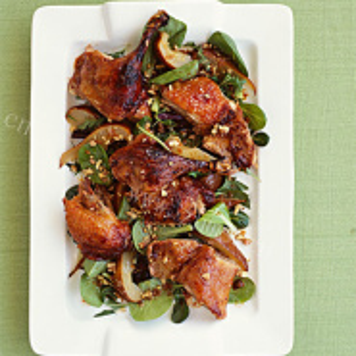 鸭肉炒口蘑