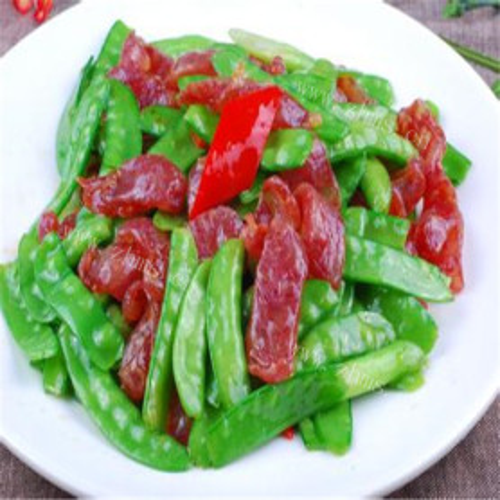 兰豆炒熏肉