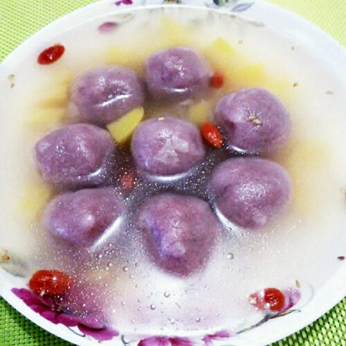 水果紫薯圆