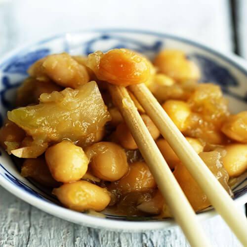 黄豆炒榨菜丝