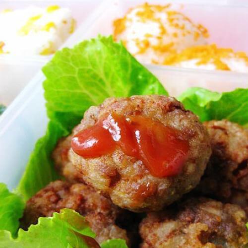 酥炸藕丸子+香菇鸡肉