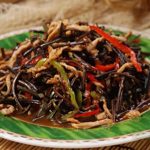 干蕨菜炒肉丝