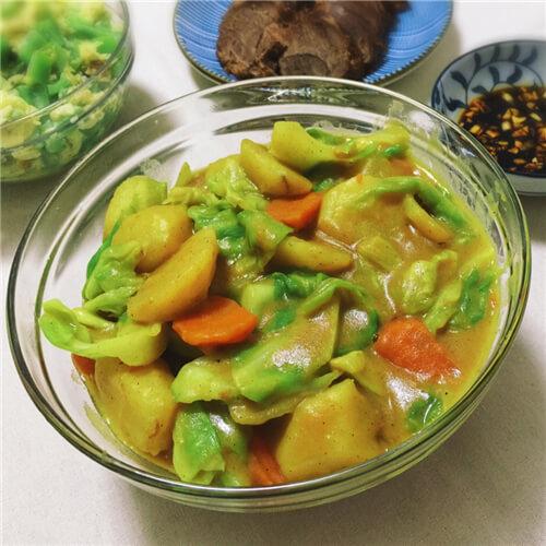 素食谱 | 时蔬青咖喱