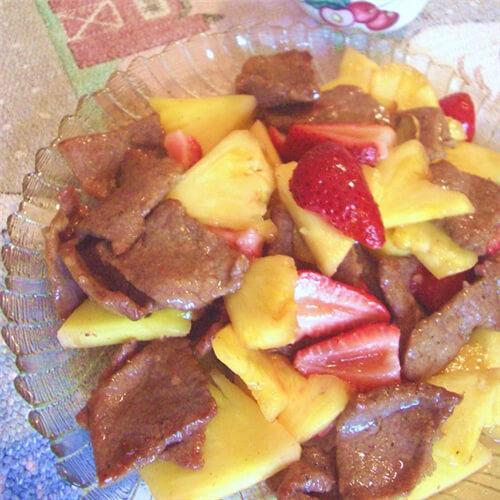 喷香的香莓牛柳