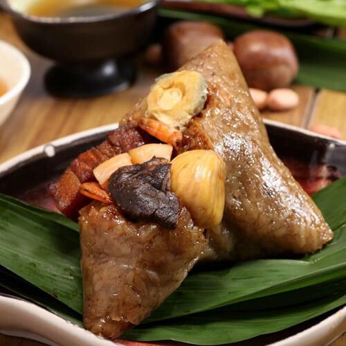 红豆海鲜肉粽