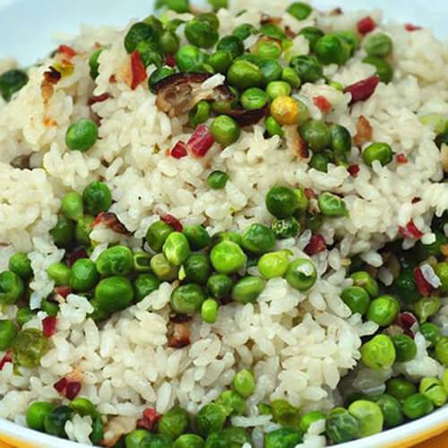 麦豆焖糯米饭