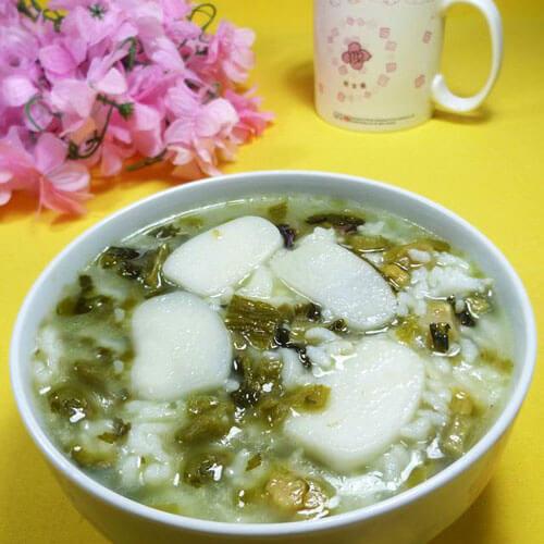 虾皮酸菜泡饭
