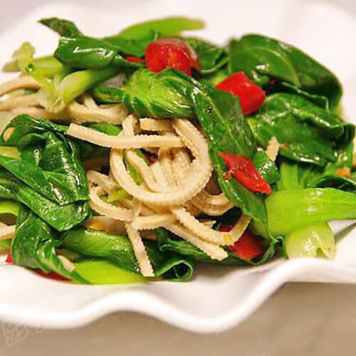 豆腐丝炒油菜