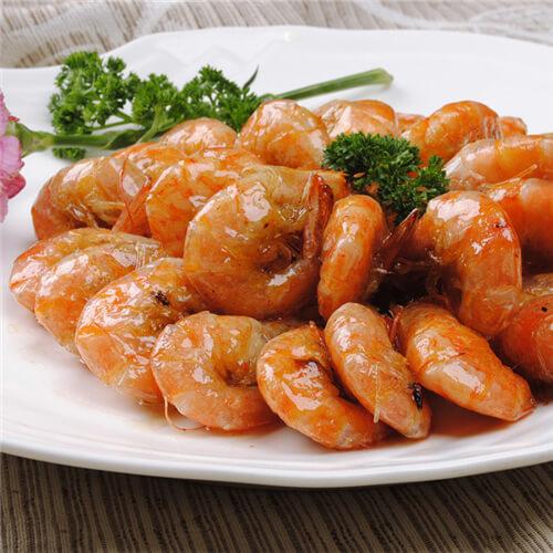 西兰花炒南美对虾