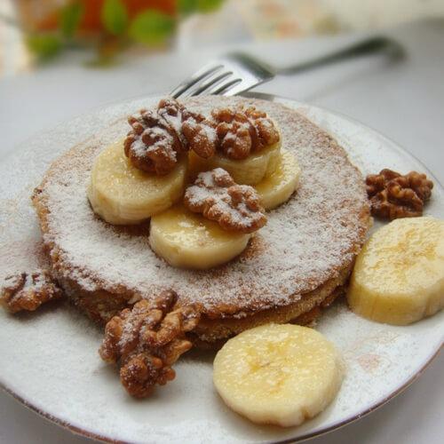 香蕉核桃煎饼