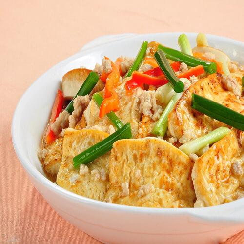 雪里红炒麻豆腐