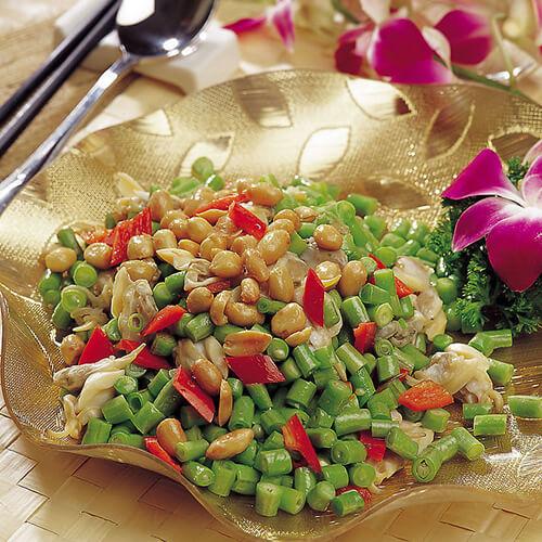 豇豆肉末炒花生