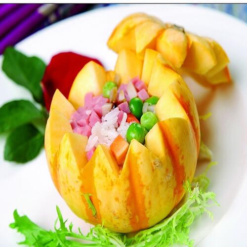 金瓜腊肠焖饭