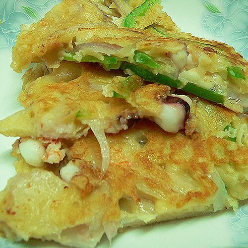 黄金海鲜蛋饼