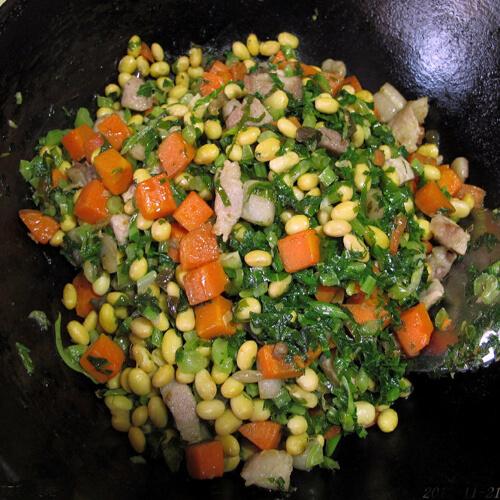 芥菜疙瘩炒肉丁