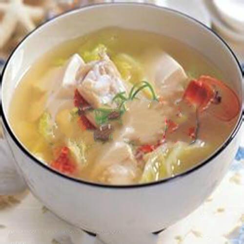 蟹白豆腐海鲜汤