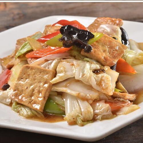 白菜炒豆腐干