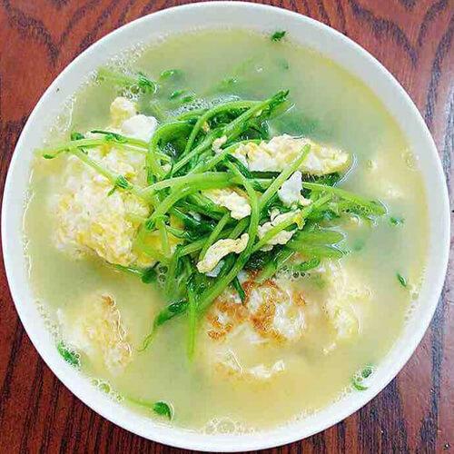 豆苗煎蛋汤