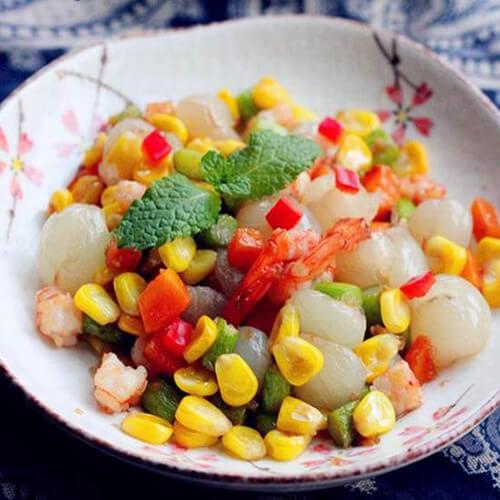 蛋黄焗虾仁玉米粒