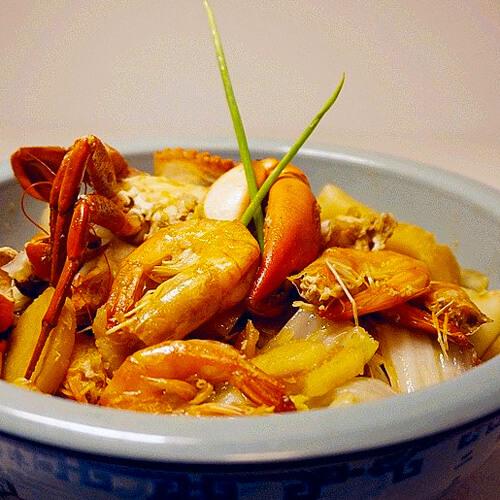 罗宋虾蟹煲