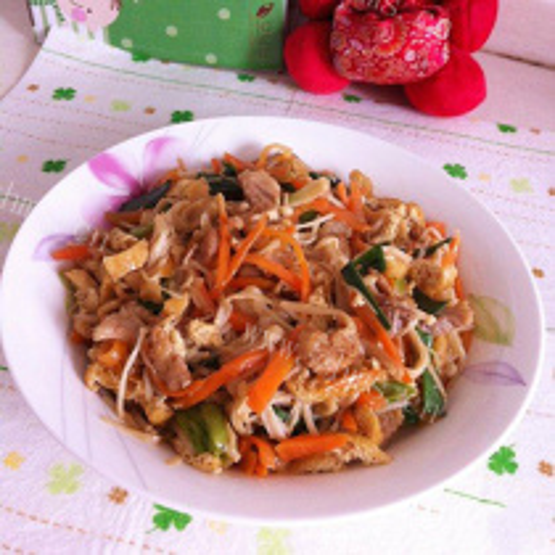 金针菇炒三鲜