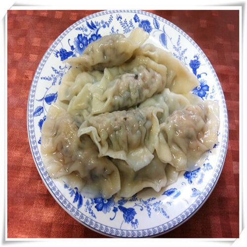 蒲公英肉馅水煮饺