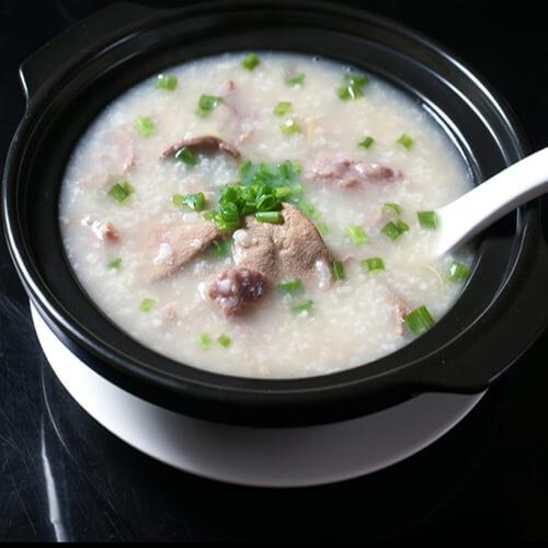 猪肝瘦肉芥菜粥