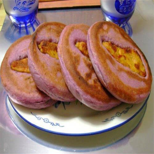紫薯鸡排饼