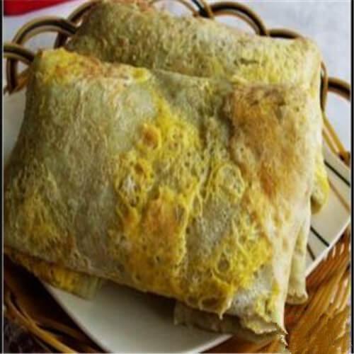 绿豆面鸡蛋饼