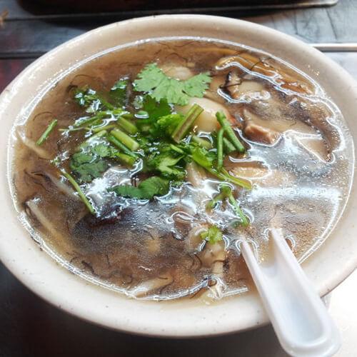 发菜蟹面汤