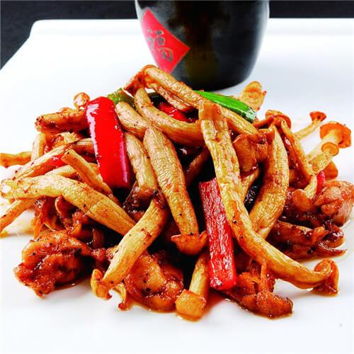 海鲜菇香辣虾