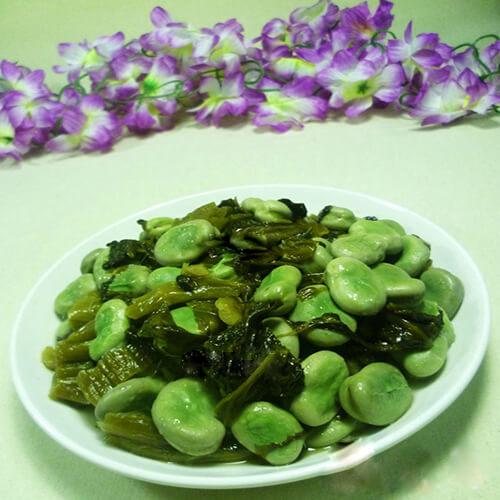 蚕豆炒酸菜