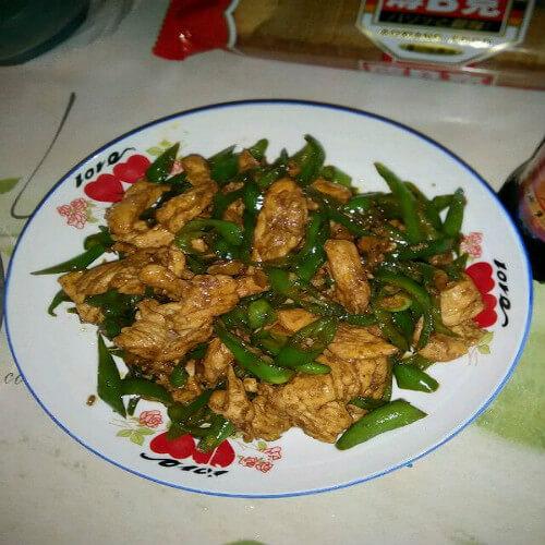 青椒炒鹅胸肉