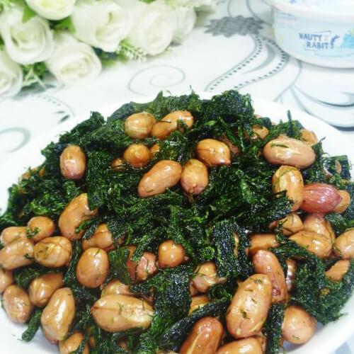 脆嫩苔菜拌花生