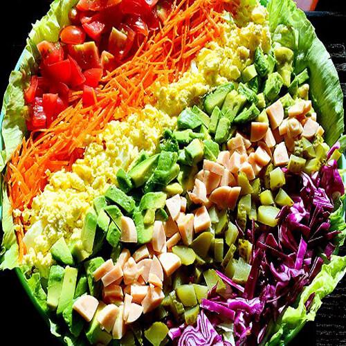 彩虹蔬菜沙拉