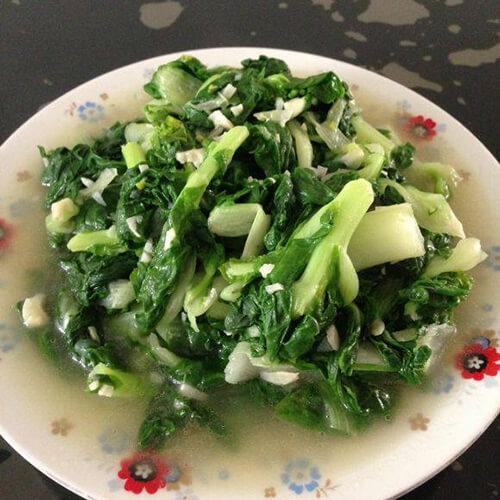 蒜香黄心菜