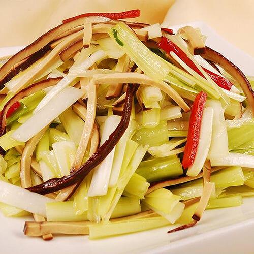 韭黄豆干炒肉片