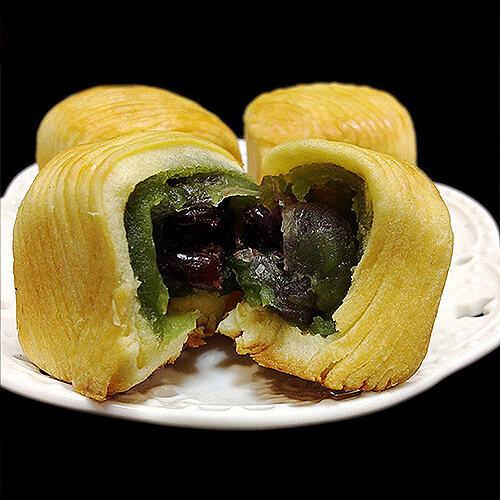 红枣绿豆巧克力小餐包