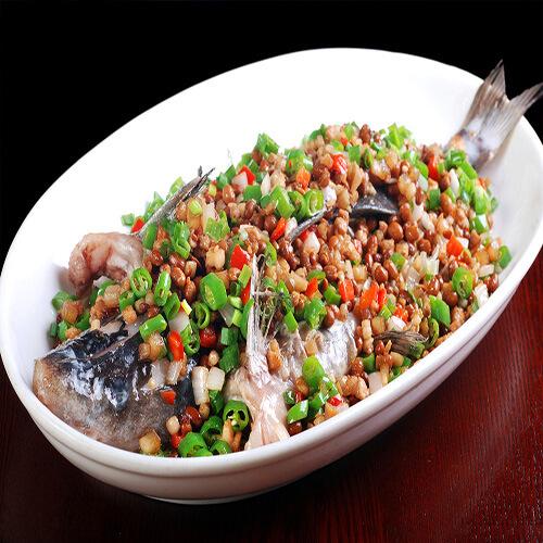 豆豉蒸目鱼