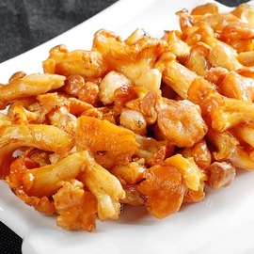 素炒鸡油菌